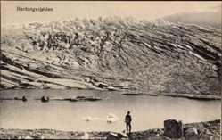 Postcard Norwegen, Hardangerjøkulen, Plateaugletscher, Totalansicht