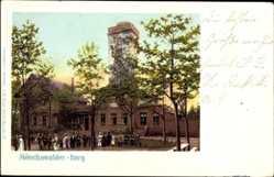 Postcard Wilthen Kreis Bautzen, Gasthaus Mönchwalder Berg, Aussichtsturm