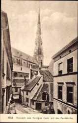 Postcard Riga Lettland, Konvent zum Heiligen Geist mit der Petrikirche