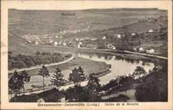 Postcard Grevenmacher Deisermühle Luxemburg, Vallée de la Moselle, Fluss, Machtum