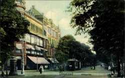 Postcard Düsseldorf am Rhein, Straßenbahn in der Königsallee