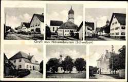 Postcard Nassenbeuren Mindelheim Schwaben, Hauptstraße, Molkerei, Schule