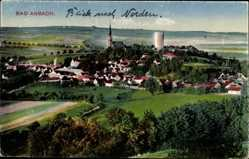 Postcard Bad Abbach im Kreis Kelheim Niederbayern, Panorama der Stadt, Kirchturm