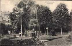 Postcard Bremerhaven Niedersachsen, Kirchenplatz, Springbrunnen