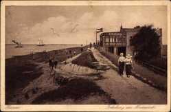 Postcard Husum in Nordfriesland, Erholung am Nordseedeich