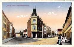 Postcard Jülich in Nordrhein Westfalen, Köln- und Stiftsheernstrasse, Geschäfte