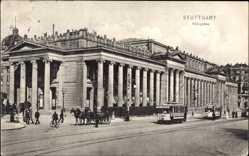Postcard Stuttgart in Baden Württemberg, Straßenbahn 184 am Königsbau
