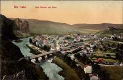 Postcard Bad Münster am Stein Ebernburg Bad Kreuznach, Nahepartie, Ortschaft