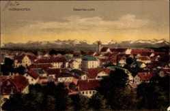 Postcard Bad Wörishofen im Unterallgäu, Gesamtansicht des Ortes