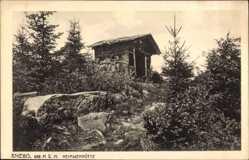 Postcard Kniebis Freudenstadt im Nordschwarzwald, Die Heimwehhütte
