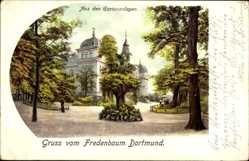 Postcard Dortmund im Ruhrgebiet, Gruß vom Fredenbaum, Gartenanlagen