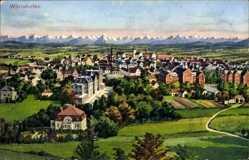 Postcard Bad Wörishofen im schwäbischen Kreis Unterallgäu, Blick auf den Ort