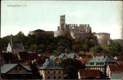 Postcard Königstein Taunus, Blick auf die Burgruine, Häuser