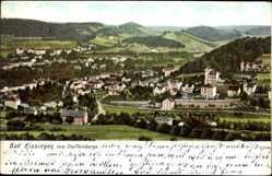 Postcard Bad Kissingen Unterfranken Bayern, Blick vom Staffelsberg auf den Ort