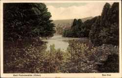 Postcard Bad Freienwalde an der Oder, Blick auf den Baa See