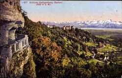 Postcard Heiligenberg Baden, Blick auf das Schloss Heiligenberg, Gebirge