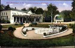 Postcard Bad Homburg v.d. Höhe, Blick auf Elisabethenbrunnen und Wandelhalle