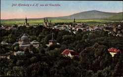 Postcard Bad Homburg vor der Höhe, Blick auf den Ort von der Ellerhöhe aus