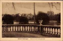 Postcard Bad Salzungen im Wartburgkreis, Blick von der Kurhausterrasse, Gewässer