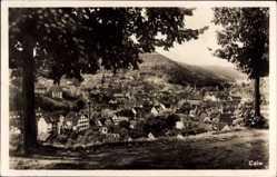Postcard Calw im Nordschwarzwald, Blick auf den Ort, Berg, Kirchturm, Häuser
