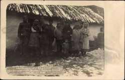 Foto Ak Nowa Odessa Ukraine, Leitungspatrouille, 21 11 1918, Ukrainer, Winter