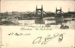 Postcard Mannheim in Baden Württemberg, Die Neckarbrücke
