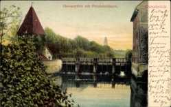 Postcard Osnabrück in Niedersachsen, Hasepartie mit Pernickelturm