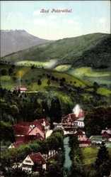 Postcard Bad Petersthal Griesbach im Ortenaukreis, Blick auf den Ort