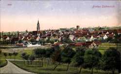Postcard Bretten im Kreis Karlsruhe Baden Württemberg, Die Südansicht des Ortes