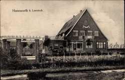 Postcard Haneworth Lamstedt Kreis Cuxhaven, Blick auf ein Gasthaus