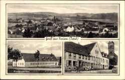 Postcard Freisen Kreis St. Wendel, Gasthaus Keller, Kindergarten, Total