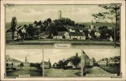 Postcard Thierstein in Oberfranken, Marktplatz, Ruine, Luitpoldeiche