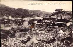 Postcard Leskovici Epire Mazedonien, Vue principale, Panorama