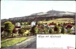 Postcard Hain Oybin in Sachsen, Gesamtansicht mit Hochwald