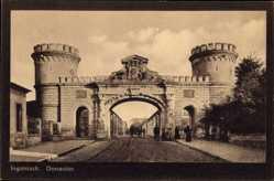 Postcard Ingolstadt an der Donau Oberbayern, Blick durch das Donautor