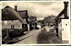 Postcard Insel Amrum in Nordfriesland, Partie in der Dorfstraße