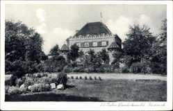 Postcard Büderich Meerbusch im Rheinkreis Neuss, Hotel Restaurant Landsknecht
