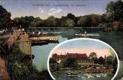 Postcard Dortmund, Blick auf die Buschmühle Gondelteich