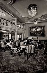Postcard Dampfer New York der HAPAG, Halle, 1. Klasse, Innenansicht