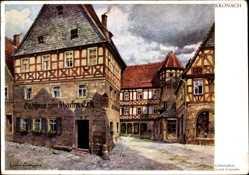 Künstler Ak Kronach, Geburtshaus des Lukas Cranach, Gasthaus zum Scharfen Erk