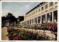 Postcard Bad Salzungen, Blick auf das Kurhaus mit den Seeterrassen