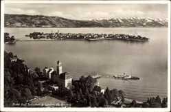 Postcard Lindau im Bodensee Schwaben, Hotel Bad Schachen mit Umgebung
