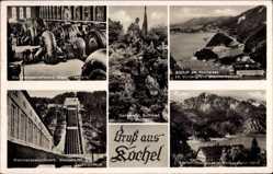 Postcard Kochel am See in Oberbayern, Walchenseekraftwerk, Altjoch, Denkmal