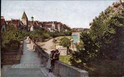 Postcard Ulm an der Donau Baden Württemberg, Partie an der Stadtmauer