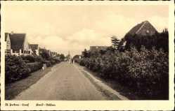 Postcard Sankt Peter Ording in Nordfriesland, Blick in die Bad Allee