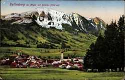 Postcard Rettenberg Oberallgäu Schwaben, Gesamtansicht der Ortschaft