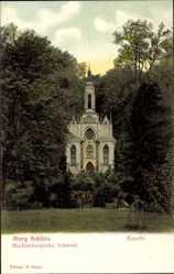 Postcard Burg Schlitz Hohen Demzin, Mecklenburgische Schweiz, Kapelle