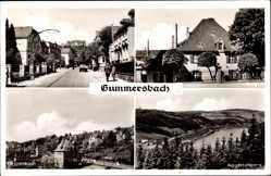 Postcard Gummersbach im Oberbergischen Kreis, Kaiserstr, Burg, Grotenbach