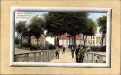 Postcard Brake an der Unterweser, Landungsbrücke und Kajeanlage