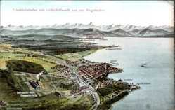 Landkarten Künstler Ak Felle, Eugen, Friedrichshafen am Bodensee, Zeppelin AG